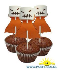 traktaties: Halloween spookje van marshmallow zelf maken