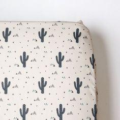 Crib Sheet in Tribal Cactus
