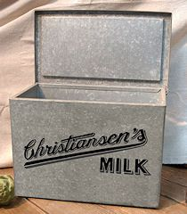 Back Then Dairy Products Were Delivered To Your Home A Metal Box Like This One Sat On Everyone S Porch