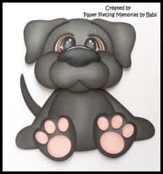 Premade Paper Pieced Puppy for Scrapbook Pages by Babs #Unbranded