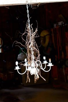 Wanting What I Have...: Stick Chandelier
