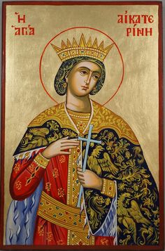 St Catherine of Alexandria Hand-Painted Icon - BlessedMart