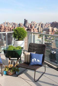 NYC view loft - love the plants