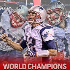 Tom Brady and the New England Patriots are Super Bowl XLIX Champs! Nfl New England Patriots, Patriots Fans, Best Football Team, Nfl Football, Football Helmets, Football Stuff, Football Season, Football Players, Baseball