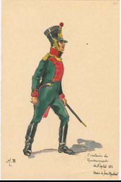 SOLDIERS- Boisselier: Capitaine du Gouvernement de Naples, 1812, by H. Boisselier.