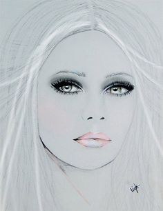 lady's face illustration by Leigh Viner (approx 2010)