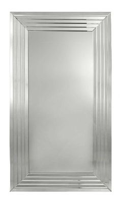 Defined by geometric and angular forms, the Art Deco Style still has a  contemporary edge and is well suited to the glammed up sophistication  of a Manhattan Apartment look. Our Elegance Mirror features a linear  design mirrored frame that will complement the matching Elegance  Console. Balance the arrangement with a pair of black statement chairs  for dramatic effect. Keep the scheme strong and pared down. Features      Elegance Mirror features a series of 5 inverse mirrored bevelled panels…