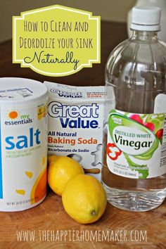 Clean and deodorize your sink naturally without harsh cleaners and chemicals with this simple tutorial.