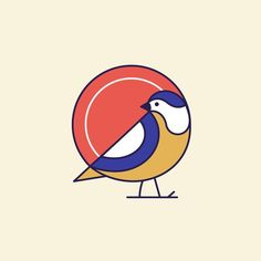Bird mark Kindly Follow me on dribbble. Link in bio ____________________________________ #sparrow #bird #logo #flat #mark