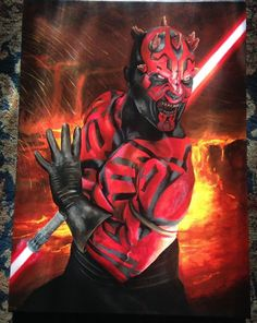 DARTH MAUL Star Wars Proving Ground Greg Lipton Canvas Art COA  Giclee
