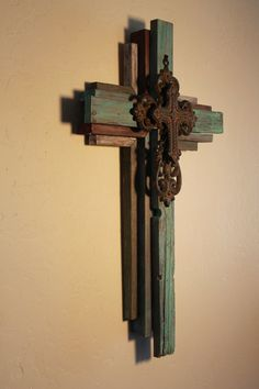 OKLAHOMA CROSS Small Wooden Rustic Cross 24 by OkieBudsWorkshop