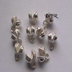 Silver Bells 8mm Belly Dance 10pc DIY Jewelry by dragonflyridge, $2.00