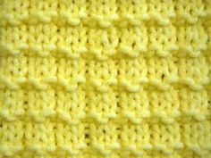 how to knit using the waffle knitting stitch
