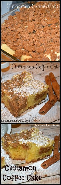 Cinnamon Roll Recipe Round Up Cinnamon Crumb Cake, Cinnamon Coffee, Cinnamon Muffins, Just Desserts, Delicious Desserts, Yummy Food, Sweet Recipes, Cake Recipes, Dessert Recipes