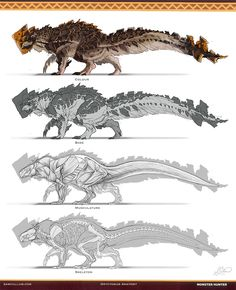 Fantastic Fan Monster Hunter Creature (the level of thought on this design) ArtStation - Oryctomus - Monster Hunter Creature, Sam Cullum