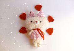Little kitten mohair plush  plush toy  mohair animal by anekkashop,