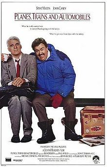 Planes, Trains and Automobiles: This may very well be my favorite comedy of all time. I'm not sure.  I was astonished that it wasn't among the AFI's list of 100 funniest comedies of all time.