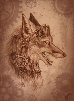 Image result for steampunk animal tattoo