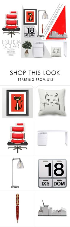 """""""Office Space"""" by kateo ❤ liked on Polyvore featuring interior, interiors, interior design, Zuhause, home decor, interior decorating, Magdalena, Bellini, Kenroy Home und Danese"""