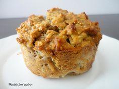 Owsiany muffin z jabłkiem i orzechami