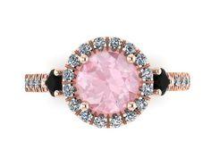 Morganite Engagement Ring Diamond Wedding by JewelryArtworkByVick