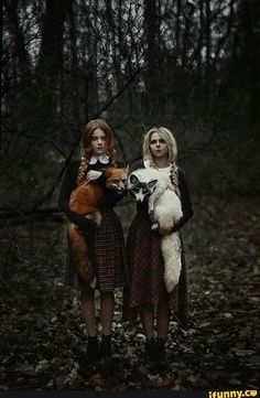 picture prompt: Forest sisters.