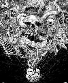 "mychestpainwantsacigarette: "" by Mark Riddick "" Creepy Art, Weird Art, Arte Horror, Horror Art, Cthulhu, Necronomicon Lovecraft, Dcc Rpg, Lovecraftian Horror, Satanic Art"