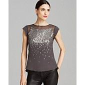 Rebecca Taylor Top - Ombre Beaded