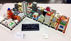 Thought /r/Portland would like this. 1 - 1000 scale model of downtown Portland made entirely of Lego (Bricks Cascade convention) - Imgur