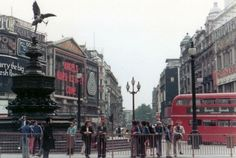 Piccadilly Circus Central London England in 1973