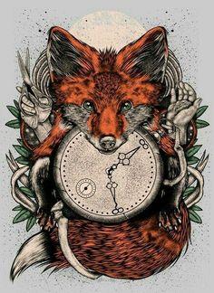 Beautiful Fox Artwork.