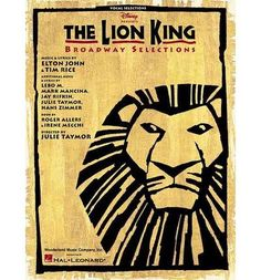 Thelion King Broadway Selections By Hal Leonard Publishing Corporation ( Author ) On Jul-05-2004 Paperback
