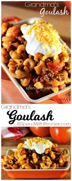 Delicious beef & macaroni make an easy crowd pleasing meal!