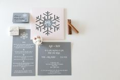 winter themed wedding invitation from y65