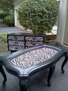 Pinto Estos Muebles Usados Y Los Decoro Con El Color O Diseno Que Tu  Escojas... Te Invito A Ver Mi Trabajo En Fb Ritau0027s Place Zebra Furniture |  Pinterest ...