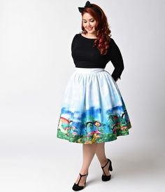 I need some high waisted skirts I can wear a crinoline under (or high-waisted pencil skirts)