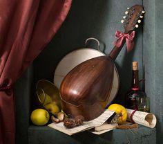 Натюрморт с мандолиной и желтыми яблоками© татьяна карачкова #Still #Life #Photography