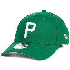 New Era Pittsburgh Pirates St. Patty Classic 39THIRTY Cap ($30) ❤ liked on Polyvore featuring men's fashion, men's accessories, men's hats, kelly green and mens caps and hats