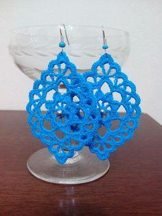 Baby Afghan Crochet Patterns, Crochet Jewelry Patterns, Crochet Earrings Pattern, Crochet Snowflake Pattern, Crochet Buttons, Crochet Bracelet, Thread Crochet, Crochet Accessories, Crochet Motif