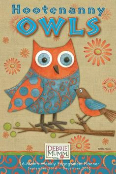 Owls daily calendar and planner.