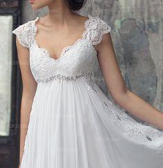 Böhmische Brautkleid aus Chiffon französischer von CoconBridal