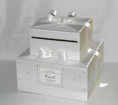 This handcrafted card box/money holder is the perfect touch for your wedding reception.Beautiful satin fabric covered box in shape of a two
