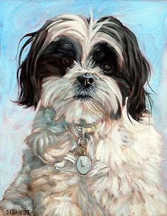 View examples of custom dog paintings by dog artist David Kennett. Each oil painting is handmade from your photo to capture your dog's personality. Custom Dog Portraits, Pet Portraits, Dog Artist, Shih Tzu Dog, Shih Tzus, Puppy Pictures, Animal Paintings, Pug, Cute Art