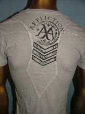 $58 AFFLICTION Tattoo WHITE OIL STAIN Fight BIKER GYM MMA UFC T-SHIRT MENS L NWT Affliction Clothing, Oil Stains, Mma, Biker, Lingerie, Tattoo, Clothes For Women, Mens Tops