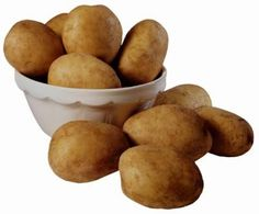 Carbohydrates: Carbohydrates are the preferred food fuel for energy. Potatoes are high in carbohydrates. Other foods high in carbohydrates includes bread, pasta and rice.