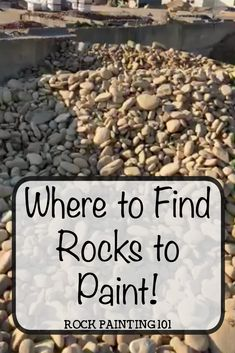 Where to buy rocks to paint. Find out the best place to find rocks for stone painting. #rockpainting #stonepainting #wherertobuyrocks #rockpaintingsupplies #rockpainting101