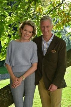 Belgian royal family: winter photoshoot. King Philippe and Queen Mathilde 12/24/14