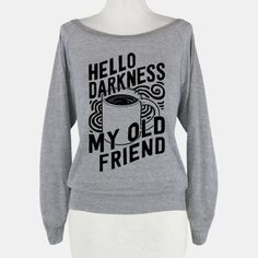 I've come to talk with you again. I have no choice, it's a morning ritual, and like a good breakfast, need my coffee black and dark. Bitter like life. The American Apparel Raglan Pullover is made with a blend of cotton, polyester, and rayon. The ultra soft Tri-Blend construction provides comfo...