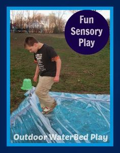 Fun Sensory Play - Outdoor Waterbed - The Stuff of Success