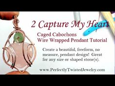 This is a full wire wrapped pendant project from start to finish. This is a wonderful wire wrapped pendant technique, using only 2 wires and 2 stones to crea. Wire Tutorials, Jewelry Making Tutorials, Wire Pendant, Wire Wrapped Pendant, Wire Jewelry Designs, Handmade Jewelry, Wire Weaving Tutorial, Wire Wrapped Rings, Stone Heart